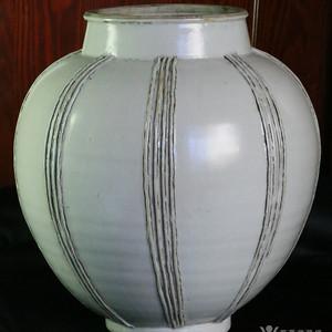 宋元 枢府 卵白釉 罐 罕见精品