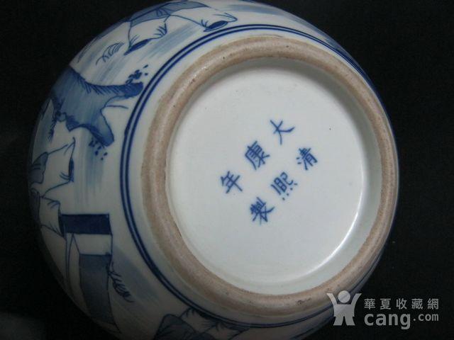 大清康熙  青花人物天球瓶图6