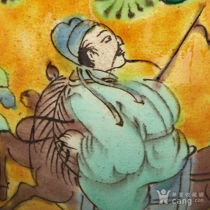 古代大明嘉靖年制款五彩人物故事纹玉壶春瓶全品精品!!图4
