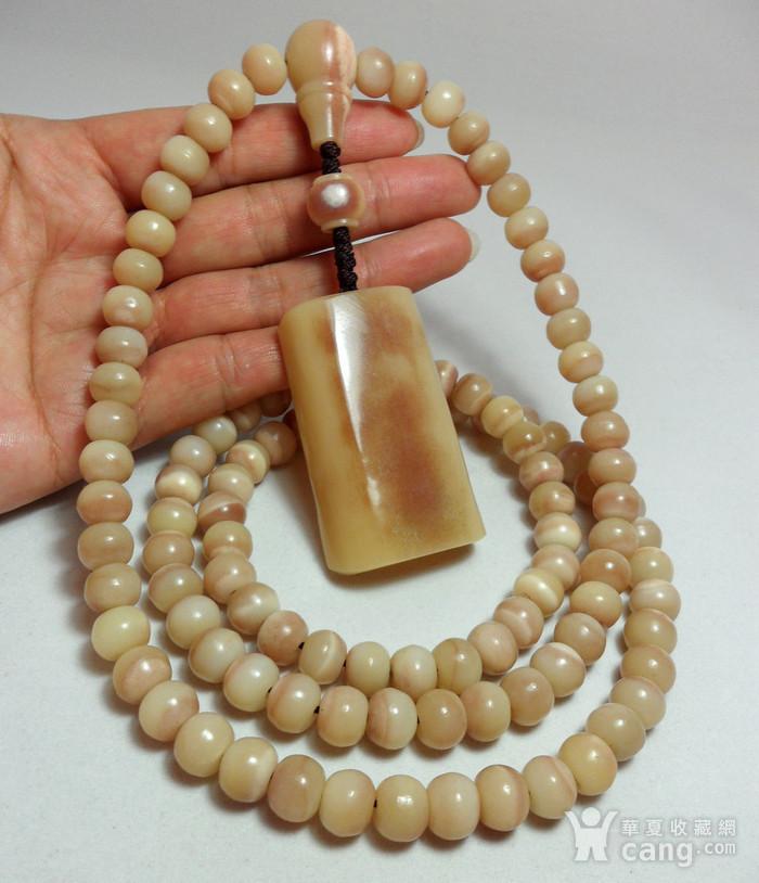 【HU】天然稀有珍贵材质大MAO骨108佛珠!油润素面厚装大牌挂件!图2