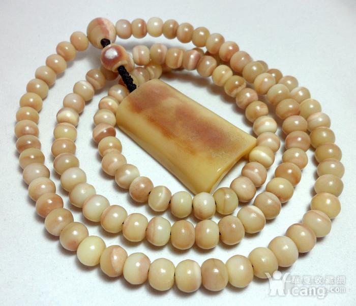 【HU】天然稀有珍贵材质大MAO骨108佛珠!油润素面厚装大牌挂件!