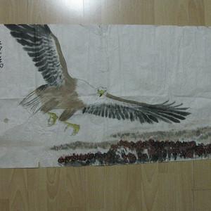 雄鹰展翅作品。88 49厘米