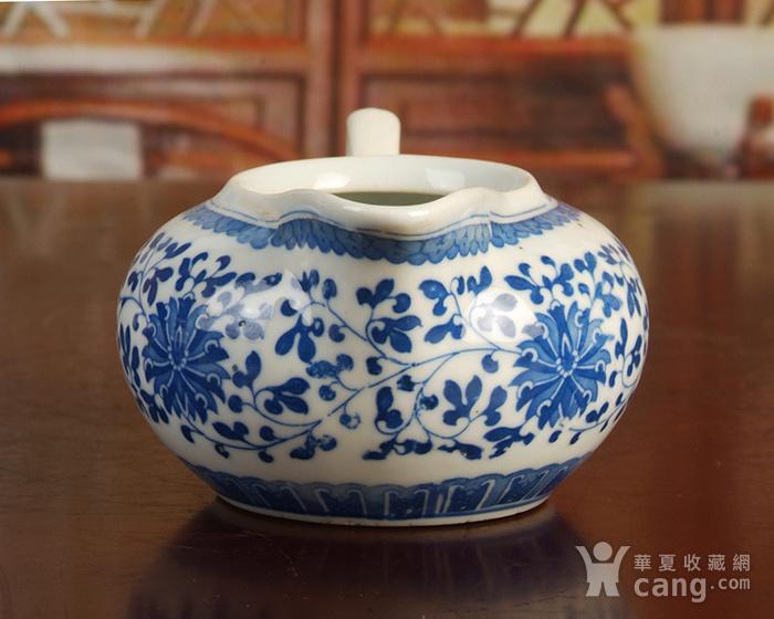 景德镇文革老厂瓷器/包老保真/出口瓷--青花玲花卉奶杯 公道杯图3
