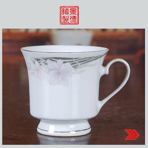 景德镇陶瓷/文革瓷器/收藏/古瓷器/出口瓷粉彩花卉图茶杯 咖啡杯