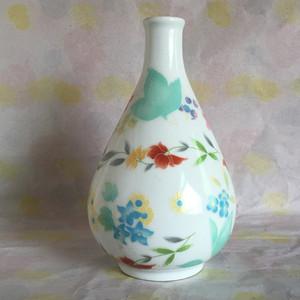 景德镇文革瓷器/出口瓷刷花花卉插花瓶