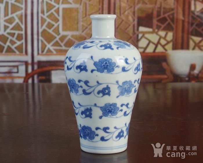 景德镇陶瓷/文革瓷器/厂货收藏/青花花卉小酒瓶图2