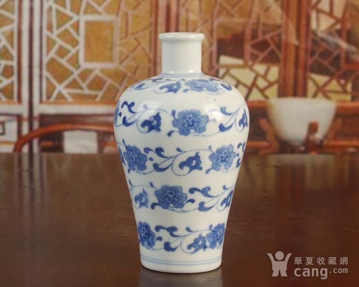 景德镇陶瓷/文革瓷器/厂货收藏/青花花卉小酒瓶图5