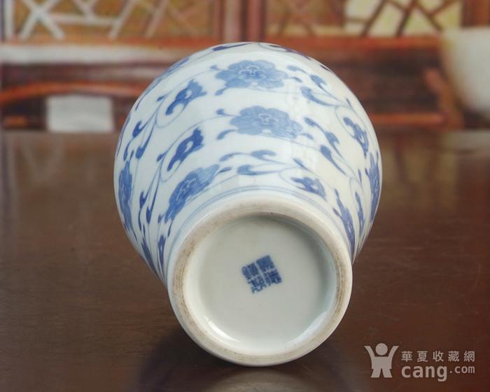 景德镇陶瓷/文革瓷器/厂货收藏/青花花卉小酒瓶图7
