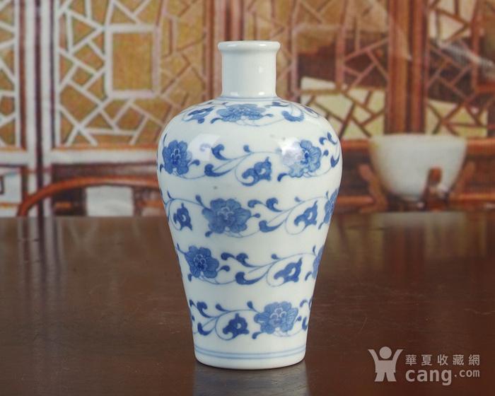 景德镇陶瓷/文革瓷器/厂货收藏/青花花卉小酒瓶图3