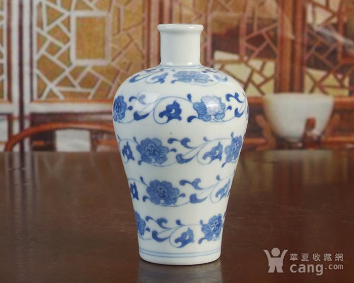 景德镇陶瓷/文革瓷器/厂货收藏/青花花卉小酒瓶图4