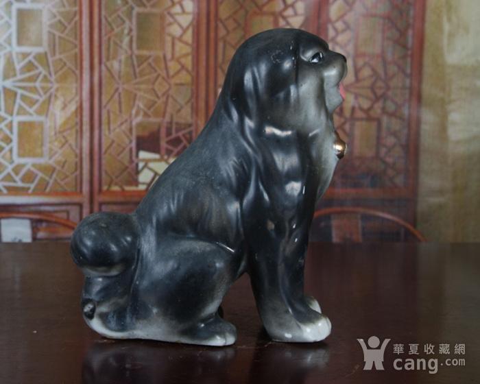 景德镇文革老厂瓷 精品收藏 雕塑瓷厂粉彩雕塑《狗》图3