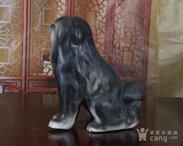 景德镇文革老厂瓷 精品收藏 雕塑瓷厂粉彩雕塑《狗》图5