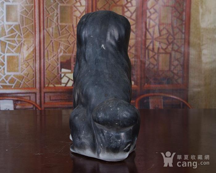 景德镇文革老厂瓷 精品收藏 雕塑瓷厂粉彩雕塑《狗》图4