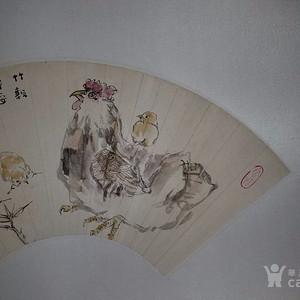 联盟 《已鉴定》江野  竹报平安,大吉大利 画工极好,极具收藏 意义