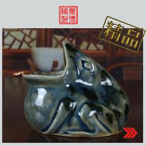 景德镇陶瓷/文革瓷器/建国瓷厂美研室高温颜色釉青蛙烟灰缸