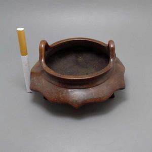 铜香炉  造型独特   八棱