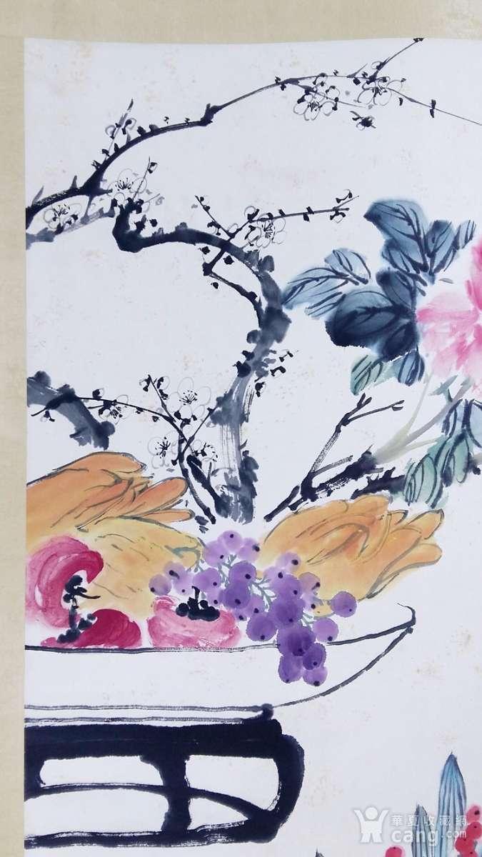 保真手绘名家王雪涛先生花鸟画立轴精品佳作!图2