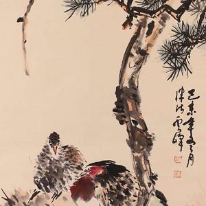 高景林作品,花鸟图