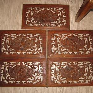 一套大尺寸楠木雕刻板