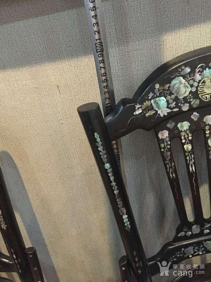 螺钿小姐椅一对图11