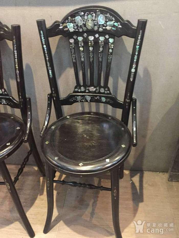螺钿小姐椅一对图2