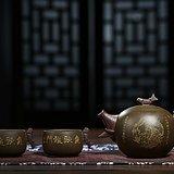 国家级工艺美术师高永伟鱼跃龍門一壶两杯套装作品