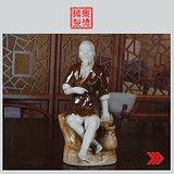 景德镇陶瓷/文革瓷器/收藏/雕塑瓷厂《渔夫》塑像
