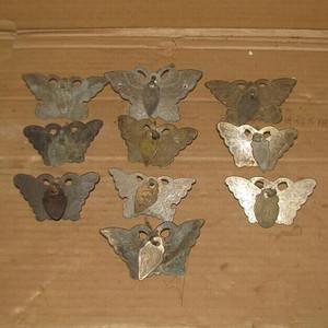 10个民国满工雕刻铜蝴蝶