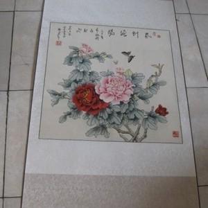 中美协84岁安徽老画家吴力上~工笔斗方~春到海阳图