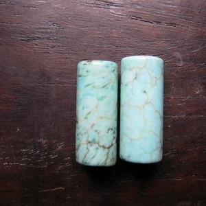 天然老松石管对珠
