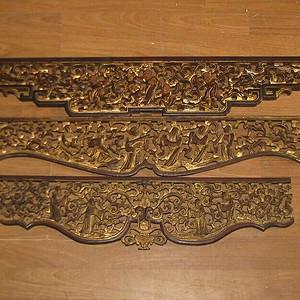 3片镏金人物长板