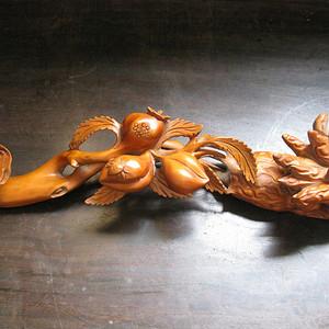 【木精】黄杨木雕福绿祷如意