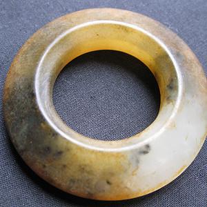老玛瑙玉雕三才环