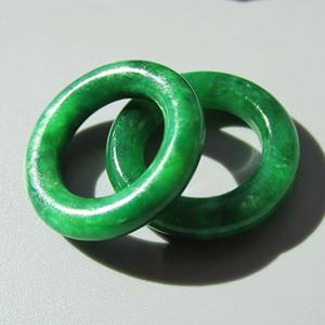 【收藏级】创汇时期 一对帝王绿 翡翠 耳环 完美品 精品难得