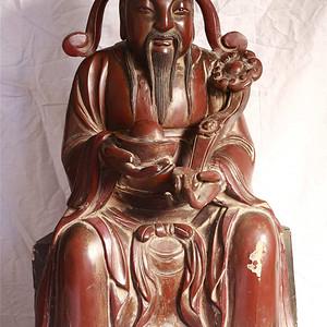 高94.5厘米重46.3斤   明代  木雕造像  精品
