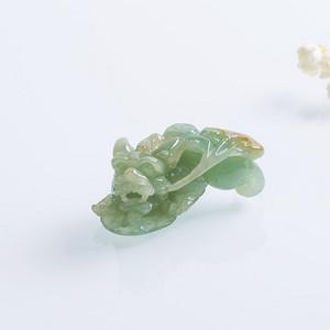 【联盟】A货翡翠冰糯种玉貔貅吊坠