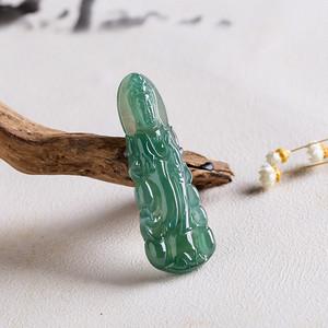 【联盟】A货翡翠冰糯种玉观音吊坠