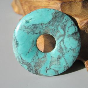 上等 原矿 绿松石 高瓷 平安扣 花纹特殊 漂亮