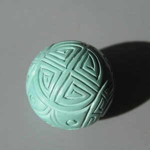 【顶级】苏功 秦谷原矿 寿字纹绿松石 全品 料质干净细腻