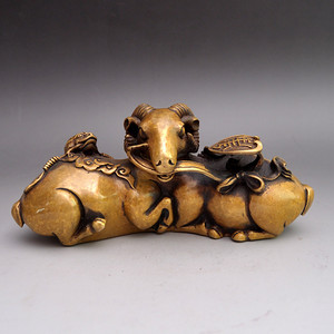 斑铜精品浮雕招财进宝摆件收藏