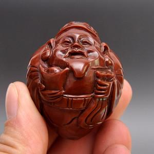 橄榄核精品浮雕福寿寿星把件