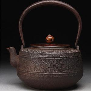 【联盟】乳钉纹紫铜盖老铁壶