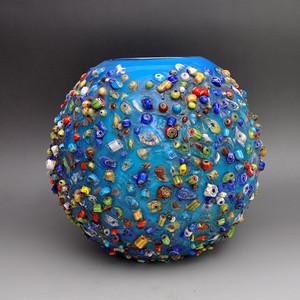 琉璃精品七彩琉璃罐子收藏品