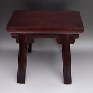 檀木精品浮雕云纹小凳子收藏品