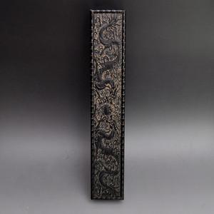 紫檀精品浮雕双龙戏珠盒收藏品