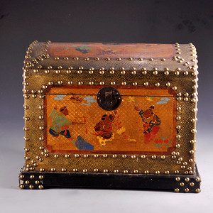漆器童戏图珍宝箱