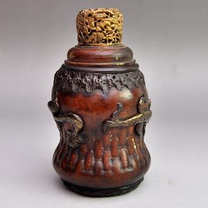 匏器精品浮雕貔貅送福蛐蛐罐