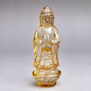 水晶精品浮雕大日如来雕像收藏