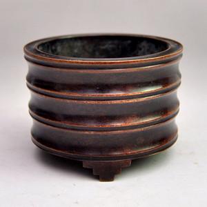紫铜精品浮雕仿竹节节高香炉