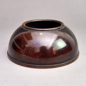 紫铜精品无字宣德手工水盂收藏